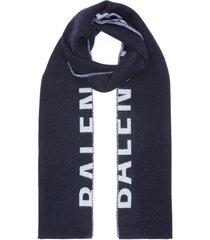 'macro logo' wool scarf