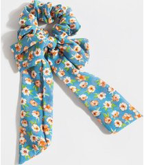 roxanne ditzy floral pony scarf - blue