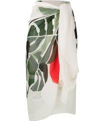 osklen lenço monstera garden - neutro