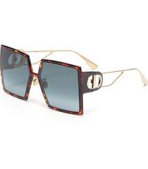 '30montaigne' oversized square tortoiseshell effect sunglasses
