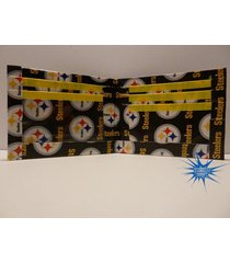 handmade duct tape wallet with pittsburgh steelers logo all over it (new design)