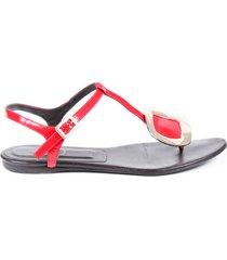 roger vivier buckle thong sandals