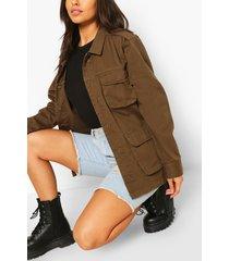 double pocket utility jacket, khaki