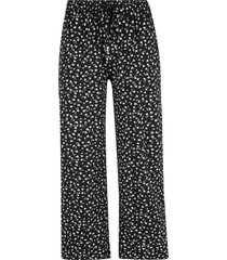 pantaloni cropped in jersey (nero) - bpc bonprix collection