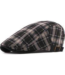 berretto in cotone plaid da uomo berretto regolabile da sole regolabile per berretto vogue