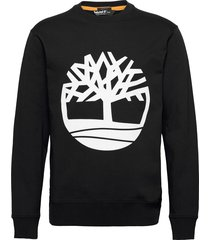 core logo crew bb sweat-shirt tröja svart timberland