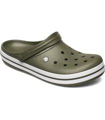 crocband blk shoes summer shoes grön crocs
