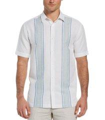 cubavera men's two-tone wide panel shirt