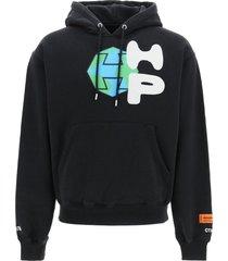 heron preston spray globe hoodie