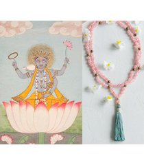 blooming lotus mala / naszyjnik joga jadeit bali