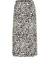 kjol dress in svart::vit