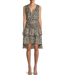 leandria leopard-print dress