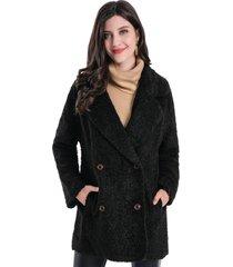 abrigo teddy negro nicopoly