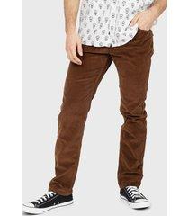 pantalón ellus cotelé marrón - calce slim fit