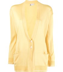 colombo loose-fit fine-knit silk cardigan - yellow