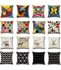 new fashion home decor cotton linen throw pillow case sofa waist cushion cover