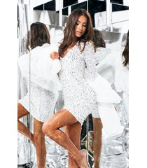 akira drippin in ice long sleeve studded mini dress