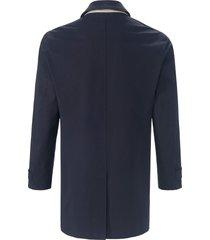 lange jas met sliponkraag en steekzakken van bugatti blauw