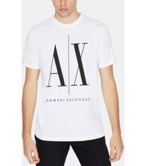 ax armani exchange men's printed icon logo t-shirt