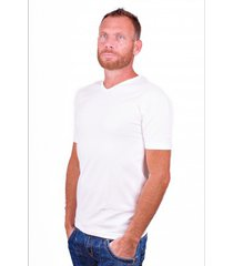 alan red t-shirt v-hals oklahoma white (two pack )