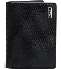tumi monaco folding leather card case -