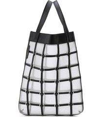 3.1 phillip lim billie mini twisted cage tote - black