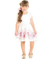 vestido pic nic renda floral pedraria branco