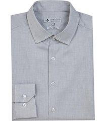 camisa dudalina manga longa cetim fio tinto maquinetado masculina (preto, 48)