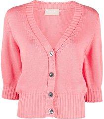 drumohr crop-sleeves cotton cardigan