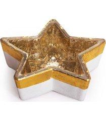 castiã§al estrela vidro 3cm ouro - dourado - dafiti