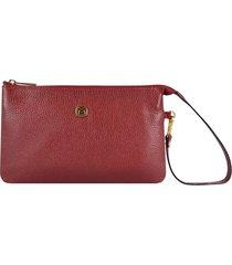 bolsa carteira couro mariart vermelho - kanui