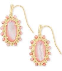 kendra scott gold-tone beaded lee drop earrings