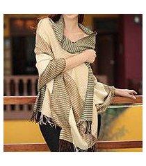 100% alpaca shawl, 'huancayo warmth' (peru)