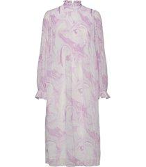 dress knälång klänning rosa ganni