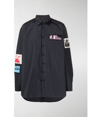 raf simons patch-embellished shirt