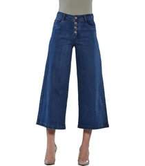 jeans tiro alto culotte 3193 azul amalia jeans