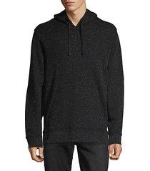 splatter-print cotton-blend hoodie