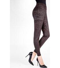 tonal tribal shaping women's leggings