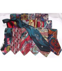 new mens lot of 3 name brand silk & other unique bold color & patterns necktie