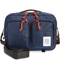 topo designs global water repellent briefcase - blue