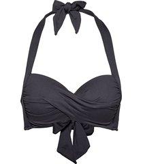 twist soft cup halter bikinitop svart seafolly