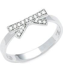 18k white gold & diamond bow ring