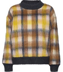 blanka knit stickad tröja multi/mönstrad mos mosh