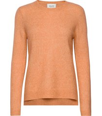 brook knit new o-neck gebreide trui oranje second female