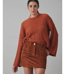 sweater terracota desiderata soft calado
