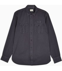 mens selected homme grey organic cotton slim shirt