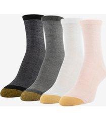 goldtoe women's 4-pk. shimmer crew socks