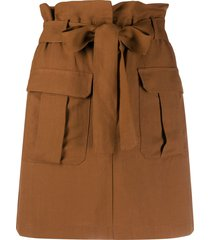 andamane high-waisted utility pocket skirt - brown