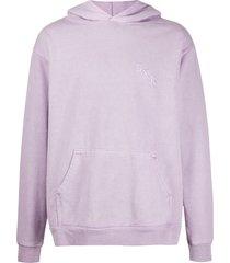bornxraised embroidered logo hoodie - purple