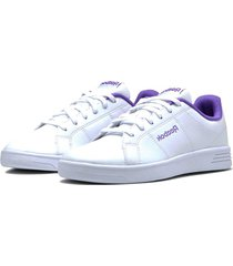 tenis blanco reebok royal rally white / grape punch dv9761